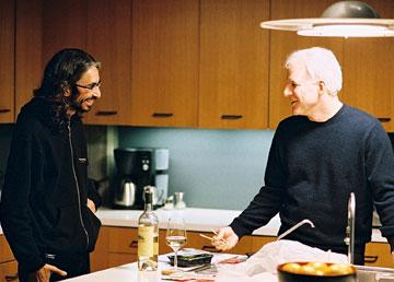 Director Anand Tucker and Steve Martin on the set of Touchstone Pictures' Shopgirl