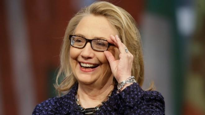 """Secretary of State HillaryClinton at a """"Global Townterview"""" event at the Newseum in Washington, D.C., on Jan. 29."""