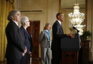 U.S. President Barack Obama announces his nominees for several cabinet positions in his government, in the East Room of the White House in Washington, March 4, 2013. REUTERS/Jason Reed