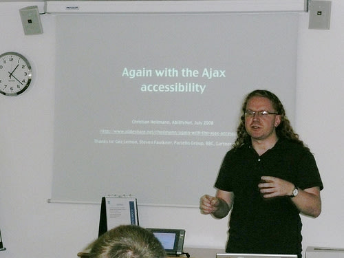 Abilitynet talk: Ajax and Accessibility