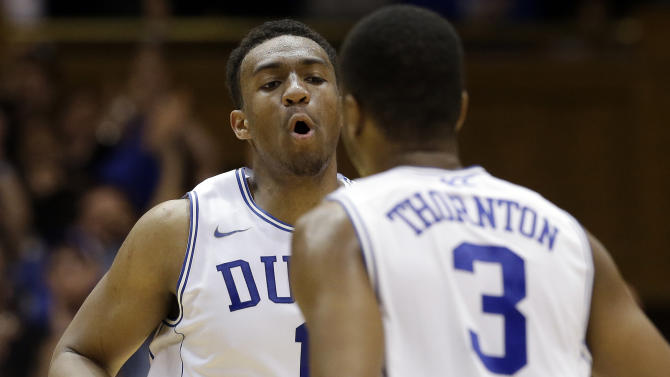 No. 8 Duke holds on to beat Maryland 69-67