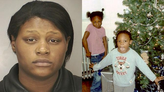 FILE - This combination of photos provided by the Nassau County Police Department shows Leatrice Brewer in 2003, and her children, Jewell Ward, and Michael Demesyeux, right. Jewell, 6, Michael, 5, and their brother Innocent Demesyeux, 1, were found dead Sunday, Feb. 24, 2008 in the same bed in their New Cassel, N.Y., home after their mother, Leatrice Brewer, 27, called police claiming she killed them. On Thursday, Oct. 3, 2013, a judge ruled that Leatrice Brewer, found not guilty because of mental disease or defect, will be taken from a psychiatric facility to testify about her request for a cut of the children's $350,000 estate in November 2013. (AP Photo/Nassau County Police Department)