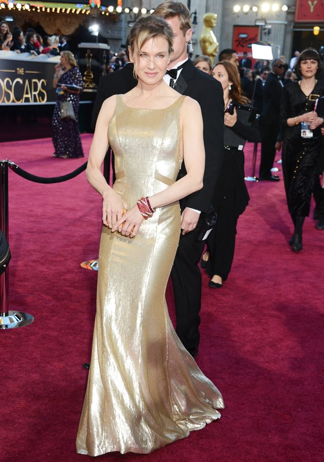 renee zellweger oscars 2013 nobody home in the beauty department