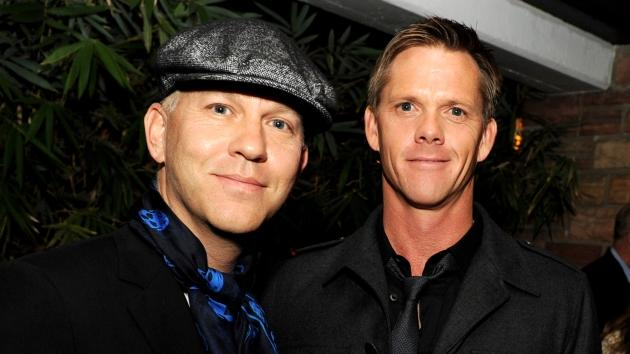 Ryan Murphy and David Miller arrive at the after party for FX's 'American Horror Story' at the Hollywood Roosevelt Hotel on October 3, 2011 in Los Angeles -- Getty Images