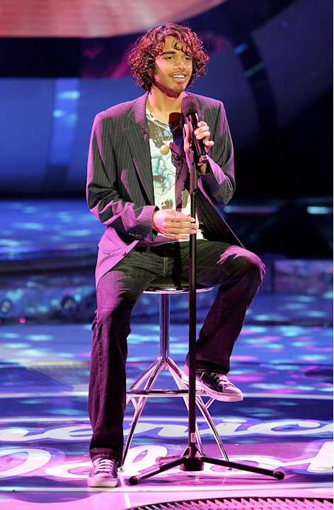 Sanjaya Malakar performs as one of the top 8 contestants on the 6th season of American Idol.