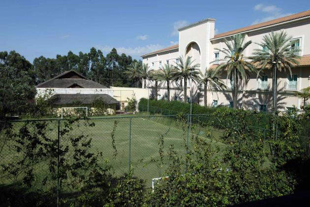 A view of a small soccer field of The Palms hotel, where Portugal's national soccer team will be based at during the 2014 World Cup, in Campinas