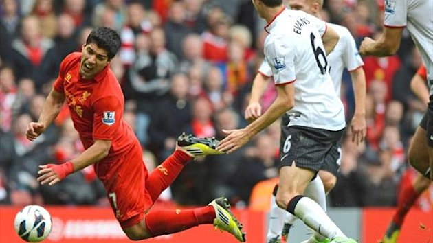 2012 Liverpool-Manchester United Luis Suarez