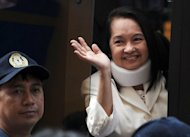 Former Philippine leader Gloria Arroyo, pictured here in February 2012, was moved to intensive care Friday to stop her suffering a possible heart attack, a week after being arrested in hospital on graft charges, authorities said