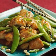 Better-than-Chinese take-out Sichuan Chicken & Snap Peas