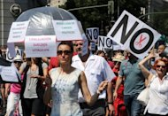 &lt;p&gt;Spanish government employees protest against the government&#39;s latest austerity measures in the centre of Madrid on July 19. Spanish protesters have planned the latest in a series of angry demonstrations against the government&#39;s economic crisis cuts, as fears rose for the country&#39;s financial stability.&lt;/p&gt;