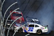 Several cars were involved in the smash at Daytona International Speedway on February 23, 2013. Steve O'Donnell, NASCAR's senior vice president for racing operations, said the entire incident would be reviewed to see what, if any, changes could be made to improve safety