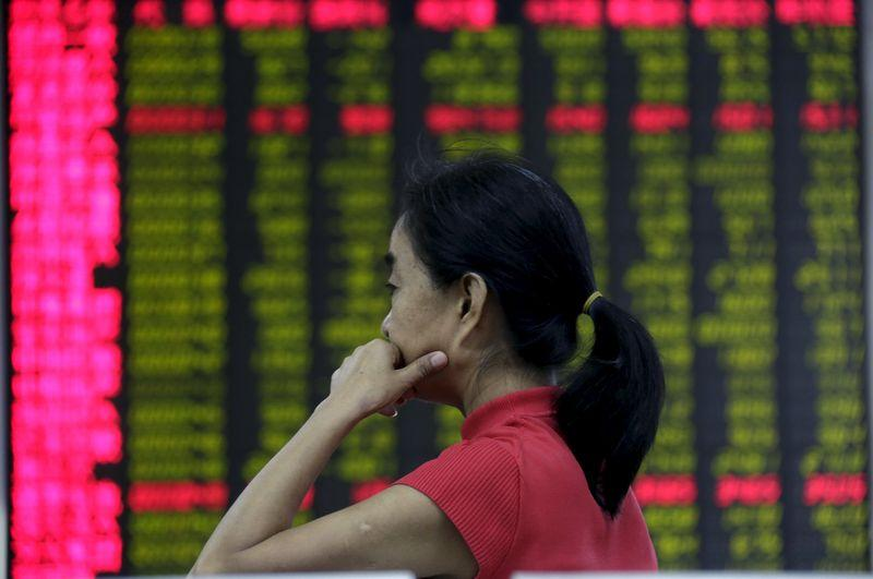 China stocks falter in giddy trade as weak PMIs heighten growth fears