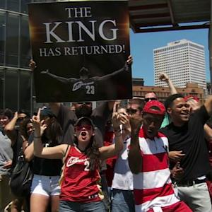 Cleveland ecstatic over announcement of LeBron James' return