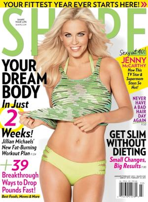 Jenny McCarthy on the January 2013 cover of Shape -- SHAPE Magazine