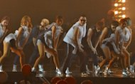 South Korean singer Park Jae-sang, also known as Psy, performs during his concert in Seoul on October 2. He will wave the chequered flag at his home grand prix on Sunday, where he will also be performing live