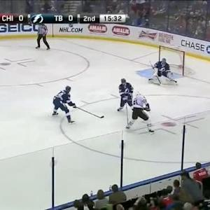 Ben Bishop Save on Marian Hossa (04:30/2nd)