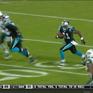 Carolina Panthers cornerback Captain Munnerlyn pick six