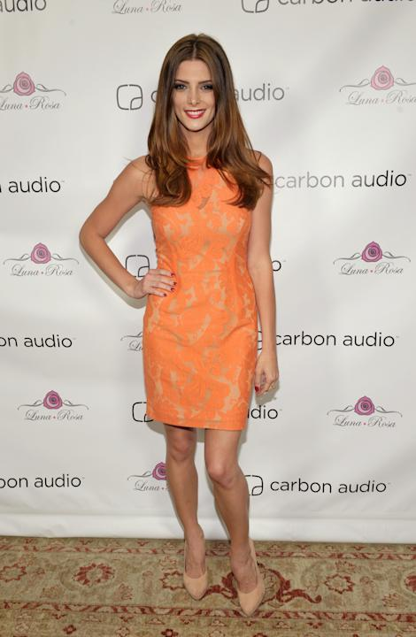 COMMERCIAL IMAGE – In this image provided by Carbon Audio, Ashley Greene attends Carbon Audio's Zooka launch party on Friday, Aug. 3, 2012, in West Hollywood, Calif. (Photo by John Shearer/Invision fo
