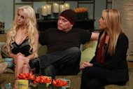 &#39;Couples Therapy&#39; duo Courtney Stodden and Doug Hutchison stop by Access Hollywood Live on October 8, 2012. -- Access Hollywood