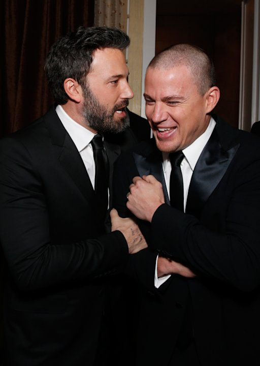 Ben Affleck, left, and Channing Tatum are seen during the cocktail reception at the 24th Annual Producers Guild (PGA) Awards at the Beverly Hilton Hotel on Saturday Jan. 26, 2013, in Beverly Hills, Ca