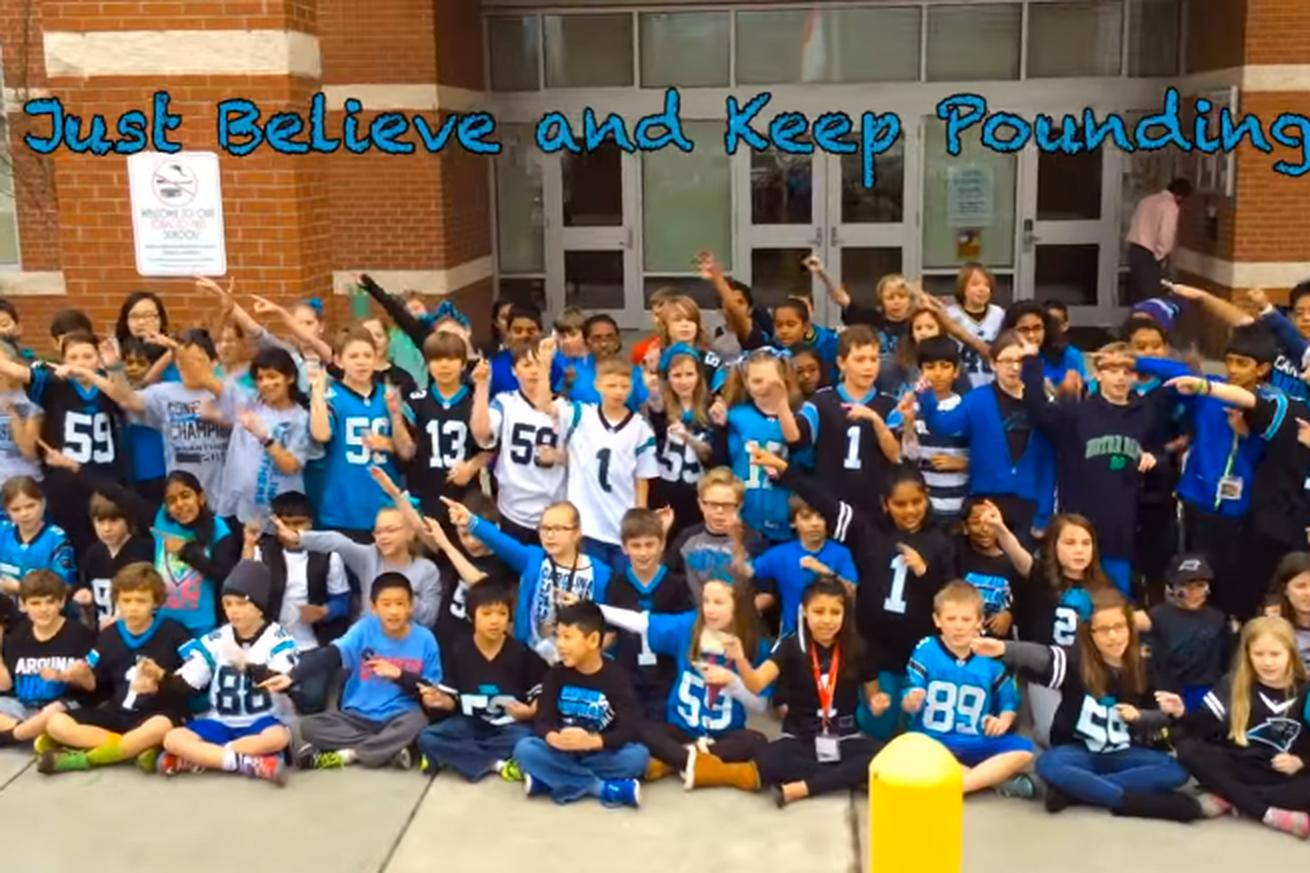 Elementary school makes the most adorable Panthers hype video for the Super Bowl