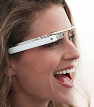 A concept design for Google&#39;s Project Glass augmented reality glasses