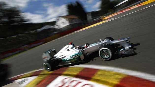 2012 Belgian GP Mercedes Schumacher