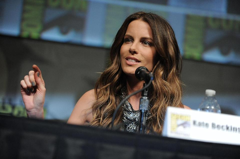 "CORRECTS DATE TO FRIDAY JULY 13 - Kate Beckinsale attends the ""Total Recall"" panel at Comic-Con on Friday, July 13, 2012 in San Diego, Calif. (Photo by Jordan Strauss/Invision/AP)"