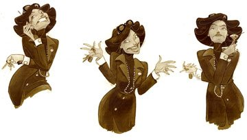 'Gladys' character expressions by Nicolas Marlet for DreamWorks Animation's Over the Hedge