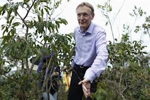 European Environment Commissioner Potocnik walks in the ecological reserve of the Brazilian Institute of Geography and Statistics in Brasilia
