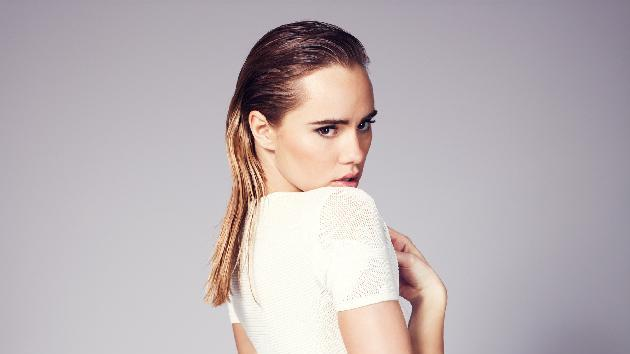 IMAGE DISTRIBUTED FOR FRENCH CONNECTION - In this image released on Monday, April 29, 2013, Suki Waterhouse, face of French Connection's White Lies collection poses for the camera at a studio shoot. French Connection launched a capsule summer collection named 'White Lies'. The white collection ranges from cotton shirts, tailored jackets, denim shorts to a little white dress, incorporating pretty lacework, sheer panelling and beautiful broderie anglaise. The range is available in store from late April and available online at www.frenchconnection.com. For further enquires, please contact pressoffice@frenchconnection.com. (Photo by French Connection/Invision via AP Images)