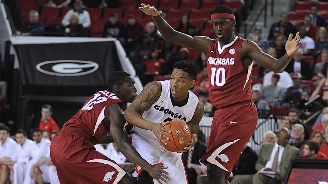 Georgia outlasts Arkansas 66-61 in overtime