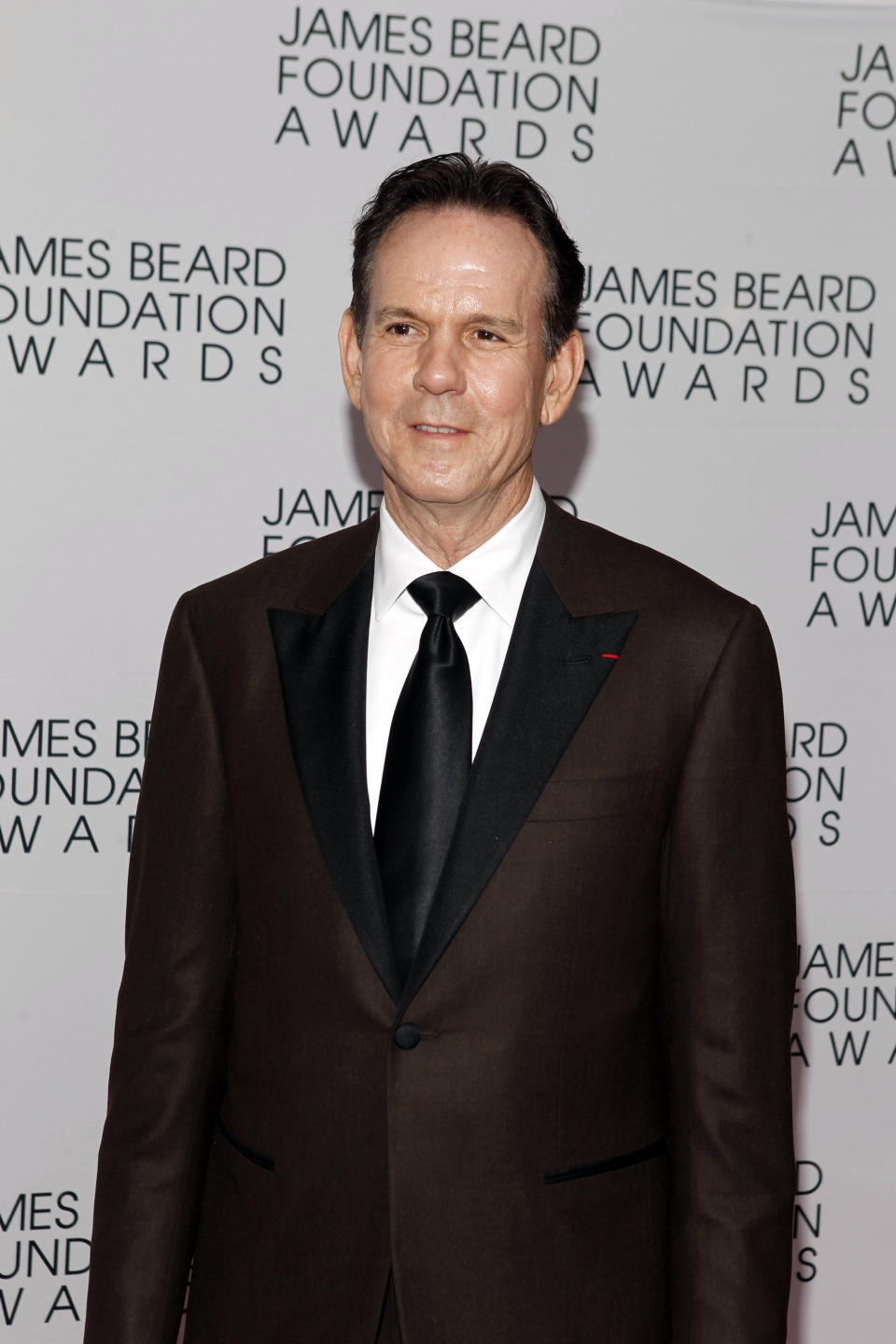 Chef Thomas Keller arrives for the James Beard Foundation Awards, Monday, May 7, 2012, in New York. (AP Photo/Jason DeCrow)