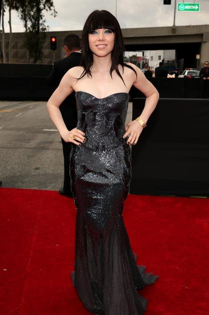 Carly Rae Jepsen arrives at the 55th Annual GRAMMY Awards on February 10, 2013 in Los Angeles -- Getty Images