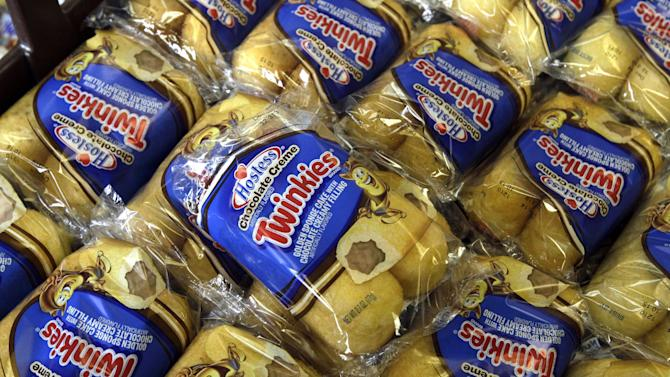 FILE - In this Friday, Nov. 16, 2012, file photo, Twinkies baked goods are displayed for sale at the Hostess Brands' bakery in Denver, Colo. Hostess Brands Inc. and its second largest union will go into mediation to try and resolve their differences, meaning the company won't go out of business just yet. The news came Monday, Nov. 19, 2012, after Hostess moved to liquidate and sell off its assets in bankruptcy court citing a crippling strike last week. (AP Photo/Brennan Linsley)