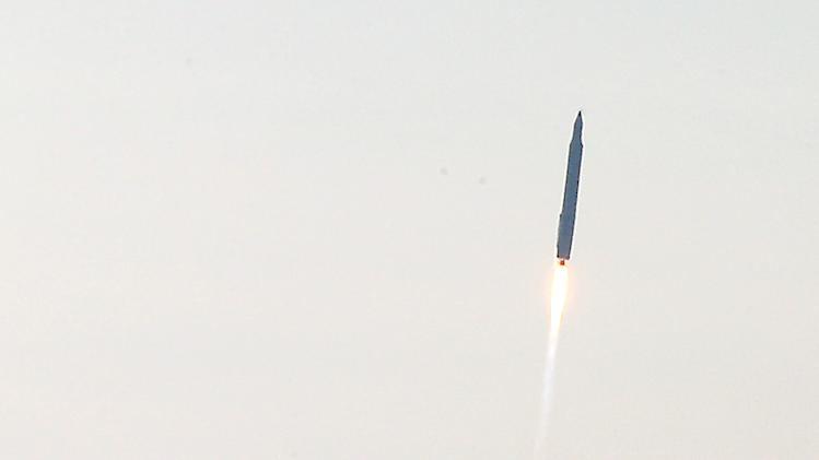 South Korea's rocket takes off from its launch pad at the Naro Space Center in Goheung, South Korea, Wednesday, Jan. 30, 2013. South Korea says it has successfully launched a satellite into orbit from its own soil for the first time. Wednesday's high-stakes launch comes just weeks after archrival North Korea successfully launched its own satellite to the surprise of the world. (AP Photo/Yonhap, Shin Jun-hee)