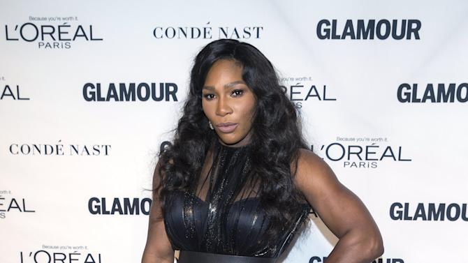 """Tennis player Serena Williams arrives for the """"Glamour Women of the Year Awards"""" in the Manhattan borough of New York"""