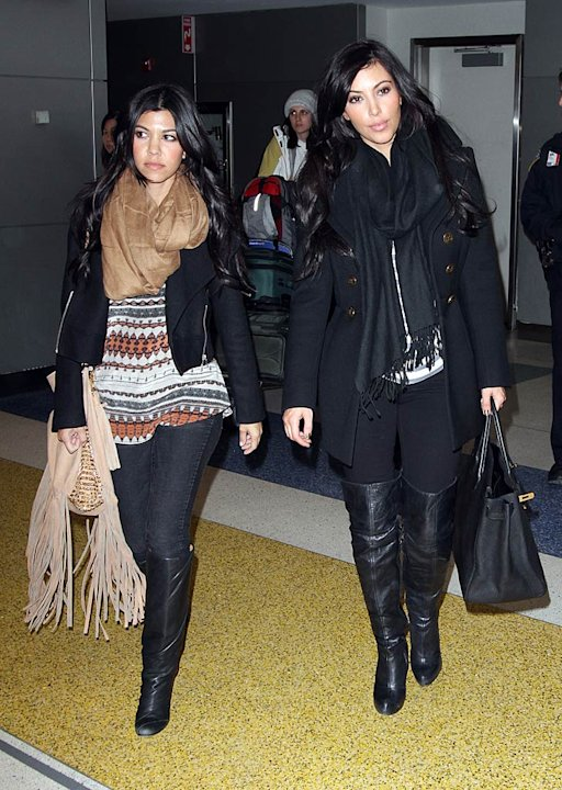 Kourtney Kim Kardashian JFK Airport