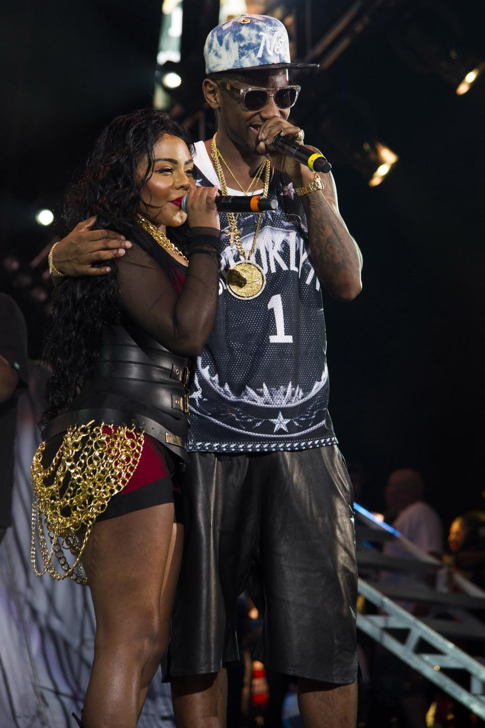 Lil' Kim and Fabolous perform at the Hot 97 Summer Jam XX on Sunday, June 2, 2013 in East Rutherford, N.J. (Photo by Charles Sykes/Invision/AP)