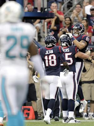 Schaub helps Texans to 24-17 win over Miami