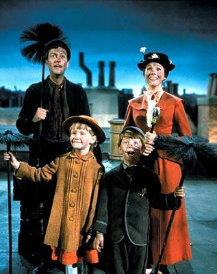 Dick Van Dyke , Julie Andrews , Matthew Garber and Karen Dotrice in Walt Disney's Mary Poppins