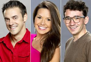 Big Brother's Dan, Danielle, and Ian | Photo Credits: Sonja Flemming/CBS