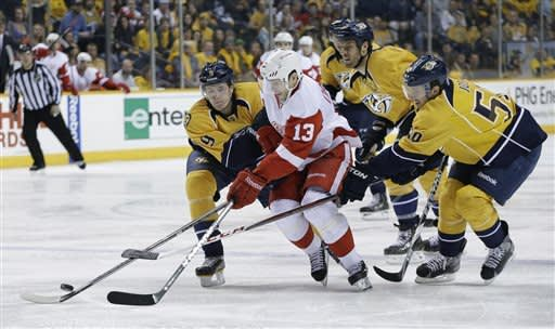 Red Wings back at 8th with 3-0 win over Nashville