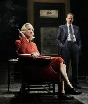 "This undated image shows actors Yvonne Strahovski, left, and Danny Mastrogiorgio in Lincoln Center Theater's 75th anniversary production of ""Golden Boy"" by Clifford Odets, directed by Bartlett Sher, in New York. Strahovski is making her Broadway debut in fall 2012 with the play, but she's never actually caught a Broadway show before. (AP Photo/Paul Kolnik)"