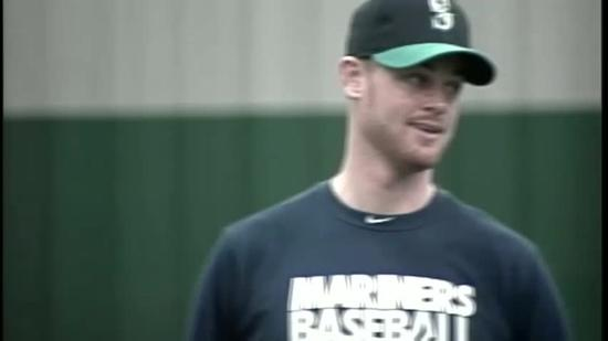 Charlie Furbush helps out at baseball clinic