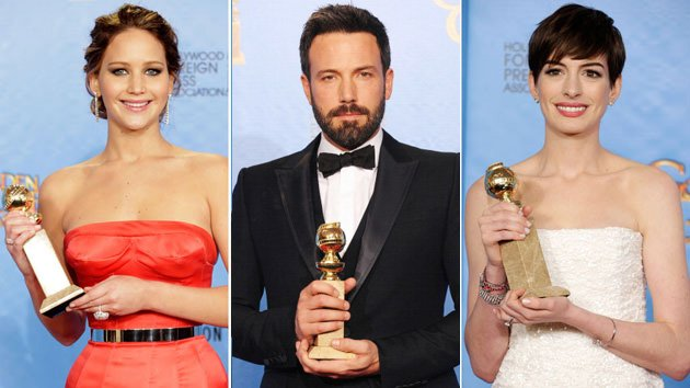 Jennifer Lawrence, Ben Affleck, Anne Hathaway