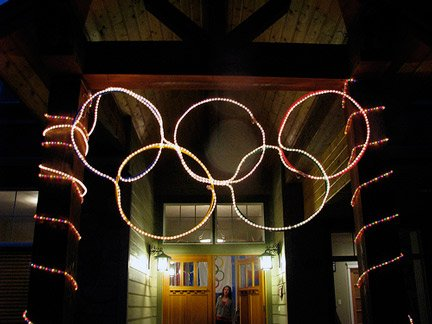 Rope Light Olympic Rings
