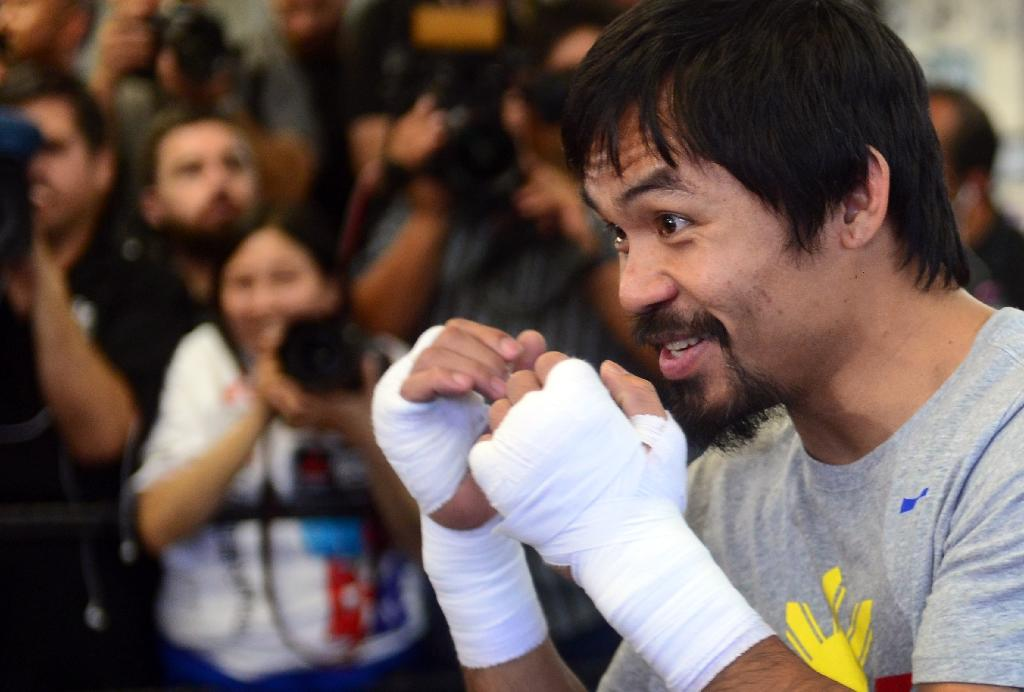 Manny Pacquiao teleconference call terminated early