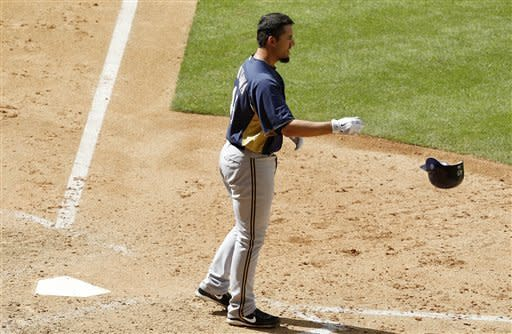 Hart HRs in 2nd game back, Brewers lose to D-Backs