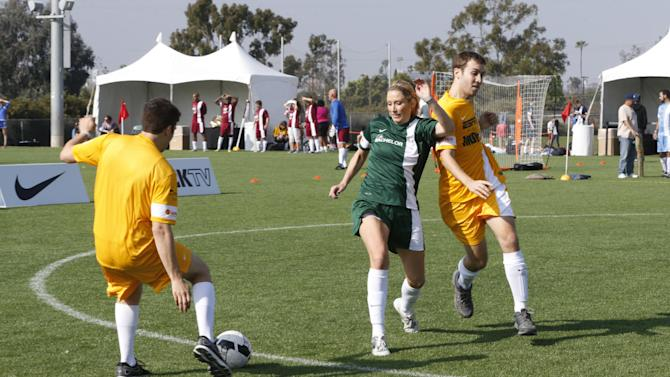 Jeff Probst Show plays The Bachelor/Bachelorette at the LAFEST LA Film and Entertainment Soccer Tournament, on Sunday, March 24, 2013 in Carson, California. (Photo by Todd Williamson/Invision for THR/AP Images)